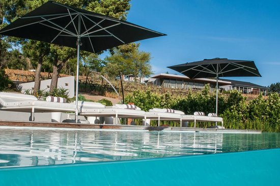 Clouds Wine & Guest Estate: Hotel pool and loungers