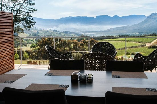 Clouds Wine & Guest Estate: View from a villa dining area