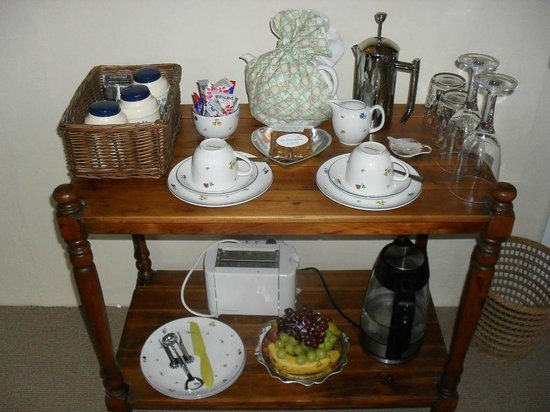 Stocklands Farm: Tray of delights on arriving in the room
