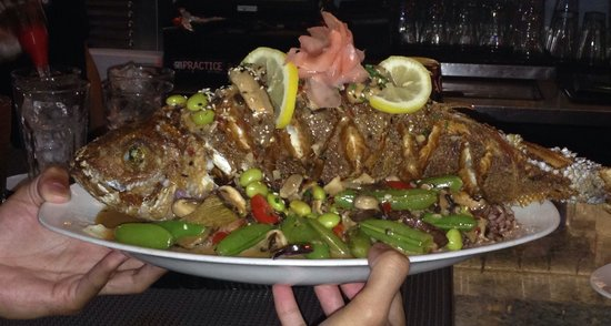 Ma'la - An Ocean Tavern: Hawaiian snapper for two - awesome meal!!