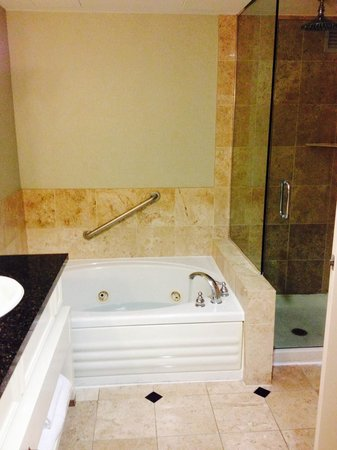 Large Bathroom with Jacuzzi Brand Jetted Bath tub. Only Suites have ...