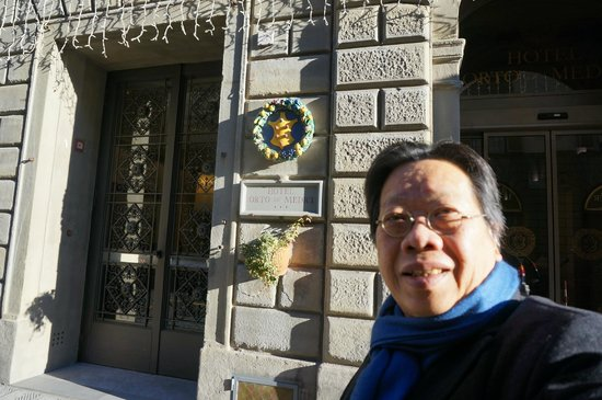 Hotel Orto De Medici: Dr. Tran Quang Hai in front of the hotel