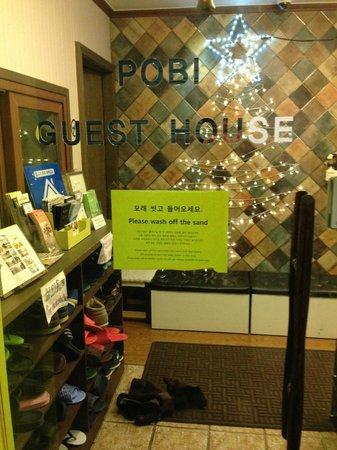 Pobi Guesthouse: front door