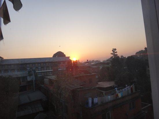 Hotel Norbu Linka : Au crepuscule vue de ma chambre