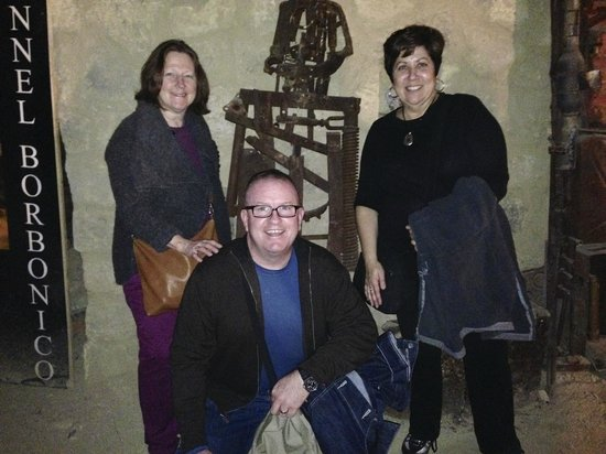 Galleria Borbonica : My friends that arranged the tour and me