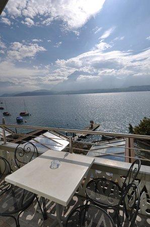 Hotel Ristorante Stella del Lago: Wunderschöner Ausblick vom Balkon der Standard Doppelzimmer mit Seesicht