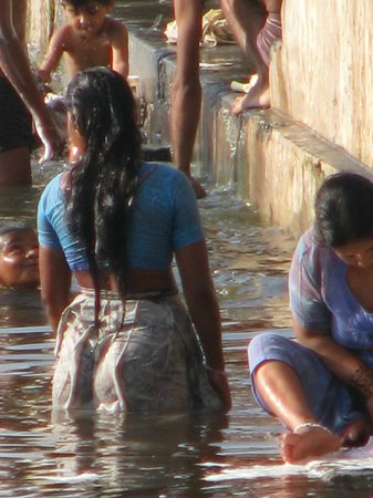 les ghats à côté de l'hôtel Amet Haveli