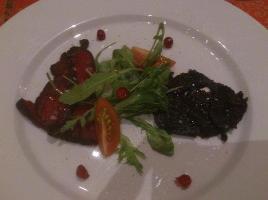 Restaurant Nansen: Carpaccio of whale and seal