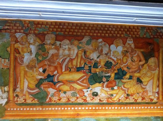 Krishna and the Gopis, paintings on the walls of the Mattancherry Palace