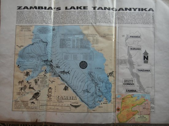 Mpulungu, Zambia: Map of Lake Tanganika, Zambia side