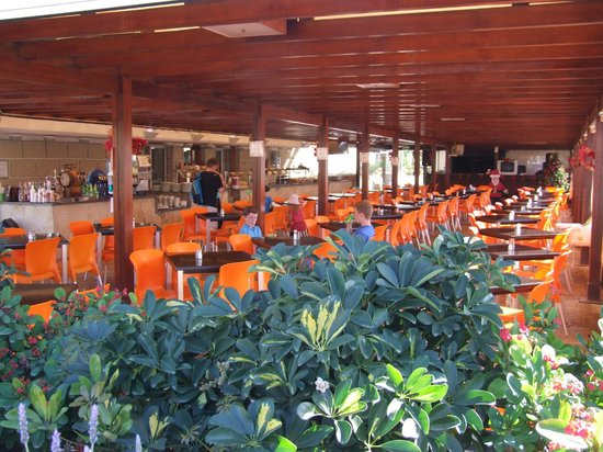 Aparthotel Parque de la Paz : View of snack bar/entertainment area