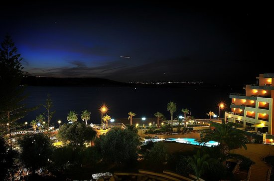 Dolmen Resort Hotel: View from room at night
