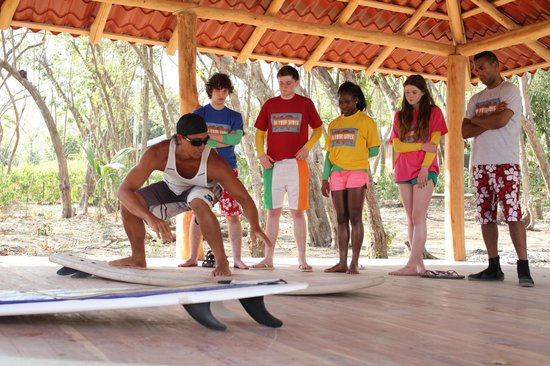 Shaka Beach Retreat : Yoga platform which also was used for surf lessons