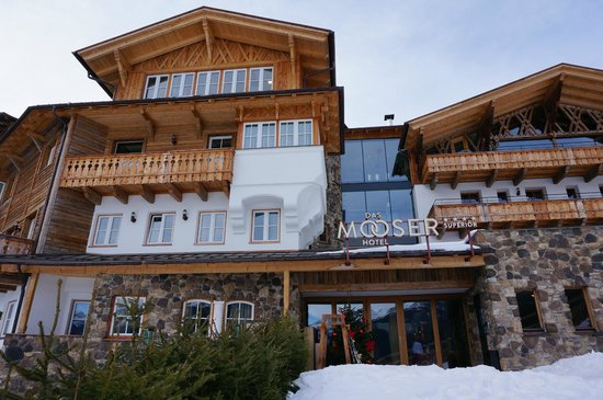 das MOOSER Hotel: View from the front of the hotel