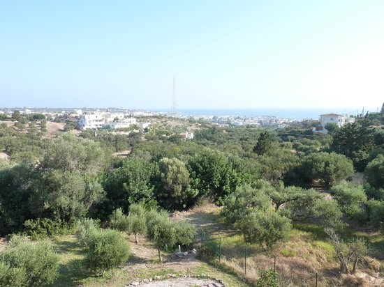 Asterias Village Resort: View from balcony out to sea