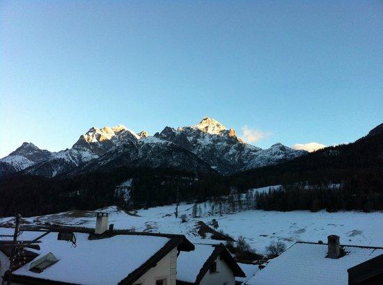Schlosshotel Chaste: Vue depuis les pistes de ski de Scuol