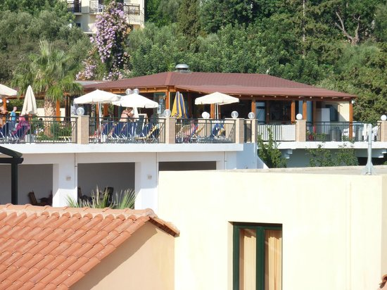 Asterias Village Resort: View of main pool from the balcony