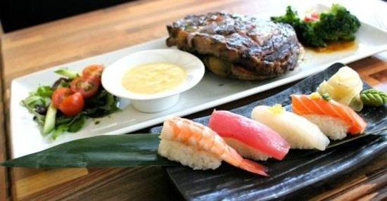 Le President : Steak og sushi
