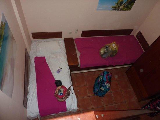 Asterias Village Resort : Downstairs bedroom viewed from upstairs bedroom