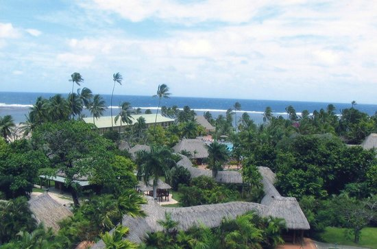 Outrigger Fiji Beach Resort: Birds Eye View.