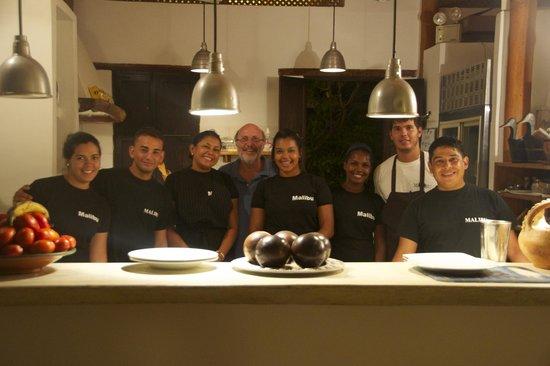 Posada Malibu: keuken personeel