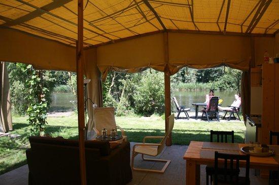 De Groote Wijzend: View from safari tent