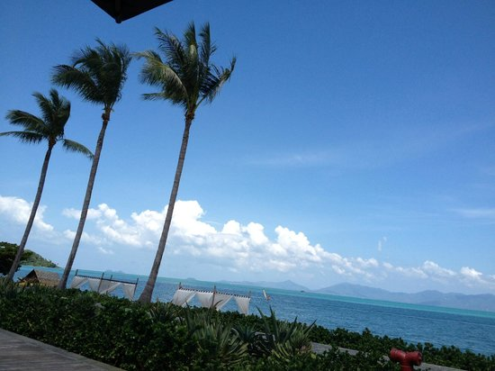 Hansar Samui Resort : That's the view having breakfast on the 2nd floor. Like in a post card!
