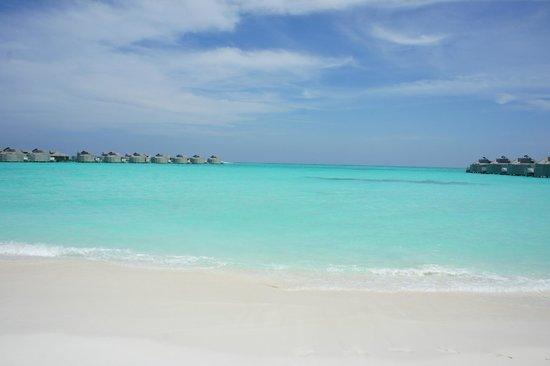 Six Senses Laamu: Пляж между 1й и 2й косой