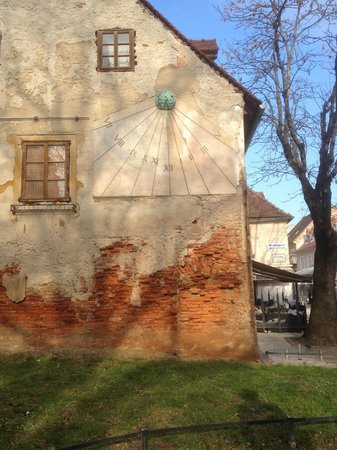 Tkalčićeva: Noticed this sundial outside a old house, not sure about the history behind it