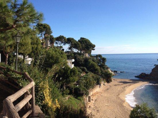 Silken Park Hotel San Jorge : Vue depuis la terrasse au petit déjeuner
