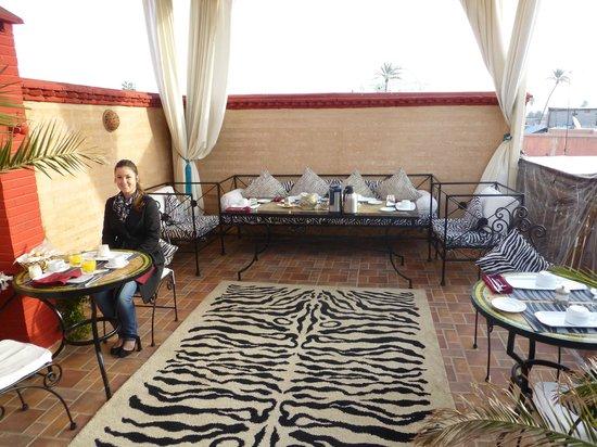 Riad 58 Blu : Rooftop terrace for breakfast