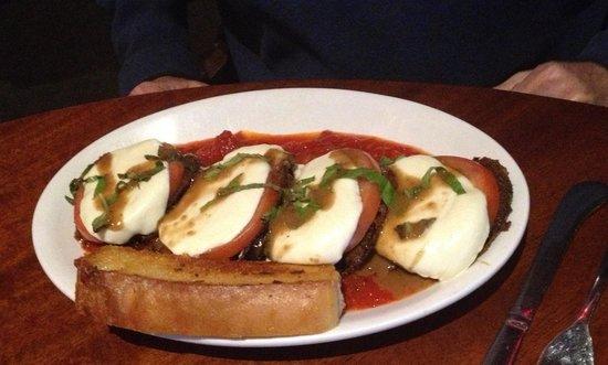 Gardner Ale House : Eggplant parm baguette
