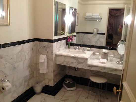 The Sherry-Netherland Hotel: Our bathroom