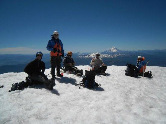 Volcan Villarica: Pic-nic lá no alto