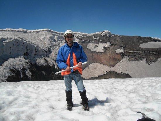 Volcan Villarica: No alto do vulcão