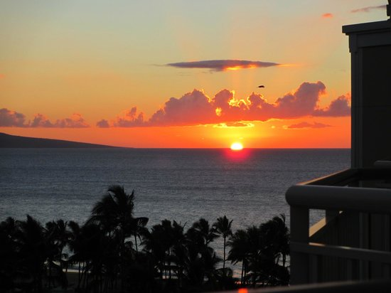 Grand Wailea - A Waldorf Astoria Resort: Sunset from our balcony
