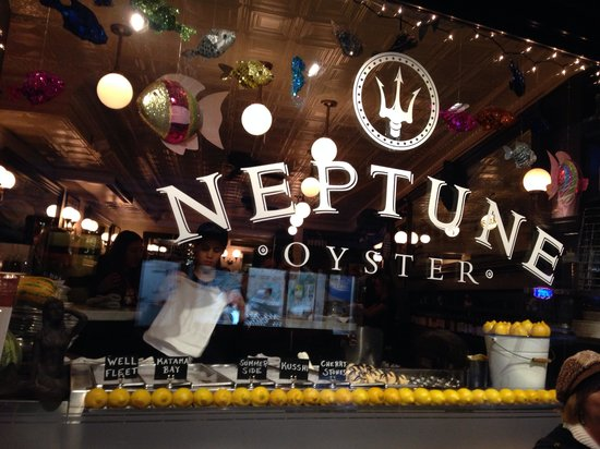 Window dining at Neptune Oyster.
