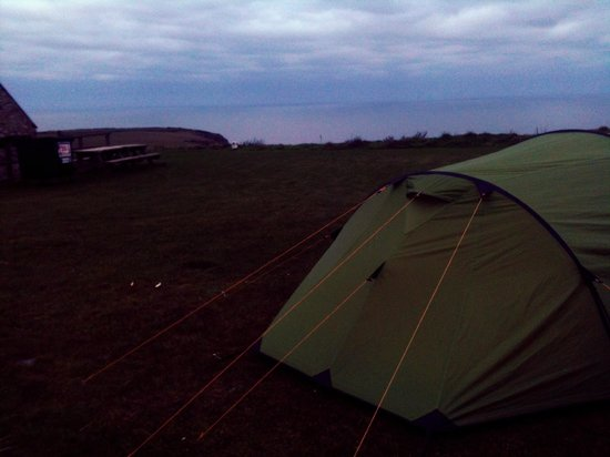 Celtic Camping: Our camping pitch