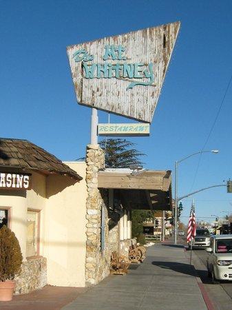 Mt. Whitney Restaurant: Mount Whitney Restraunt Sign