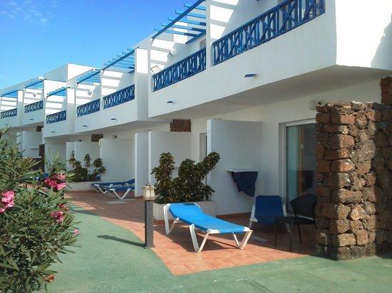Hotel Club Siroco: terras voor