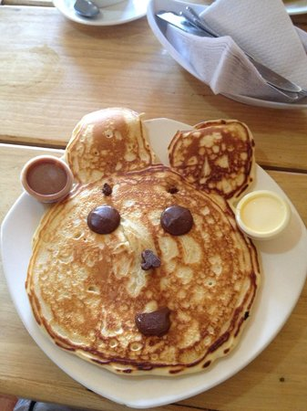 The delicious pancake breakfast