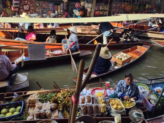 Damnoen Saduak Floating Market : Barcos de comércio