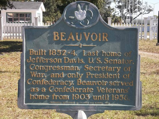 Beauvoir: Historical sign on the grounds