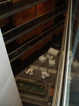 Costa Colonia Riverside Boutique Hotel: Vue du patio intérieur depuis le 4ème étage