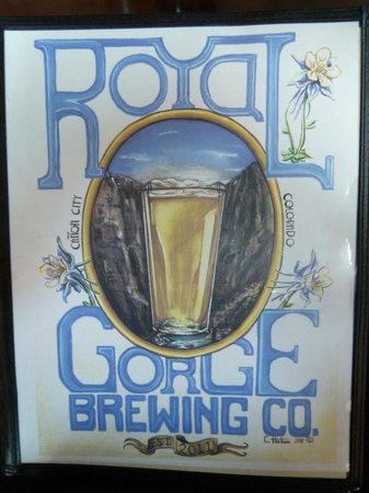 Royal Gorge Brewing Co. & Restaurant: Menu Cover