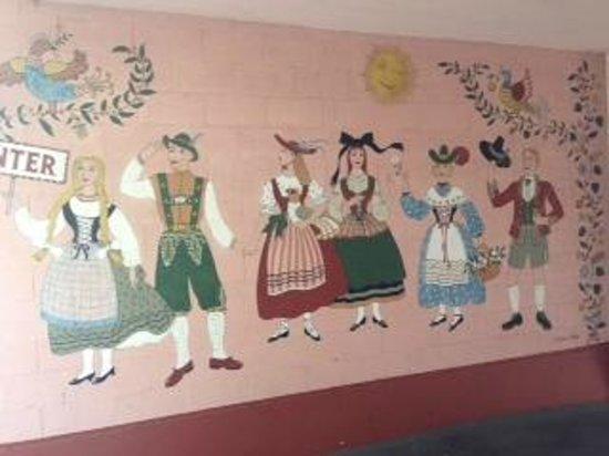 Bavarian inspired mural at Hofsas House Hotel