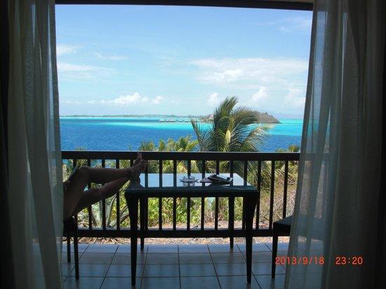 Maitai Polynesia Bora Bora: vue de notre chambre