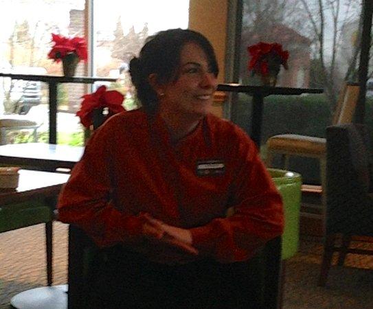 Hilton Garden Inn Louisville Airport : Leza visiting with us