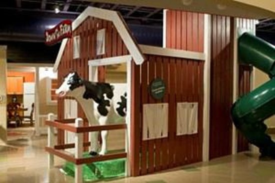 Explore More Discovery Museum: Down on the Farm featuring Bessie the milking cow