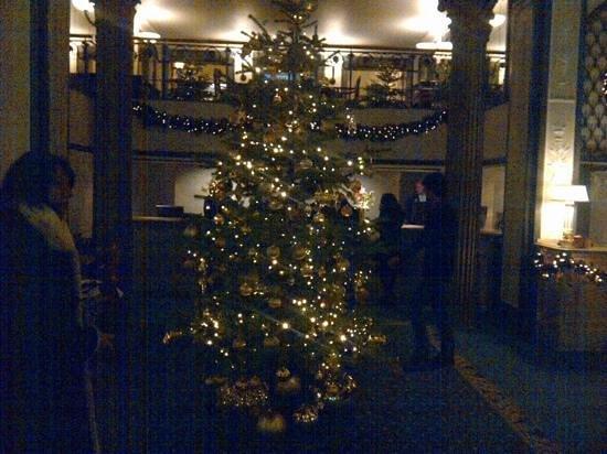 Grand Hotel: hall en Navidad